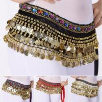 Lot 2 Egyptian Belly Dance Hip Scarf Skirt Coins Dancing Belt Costume Pink Blue