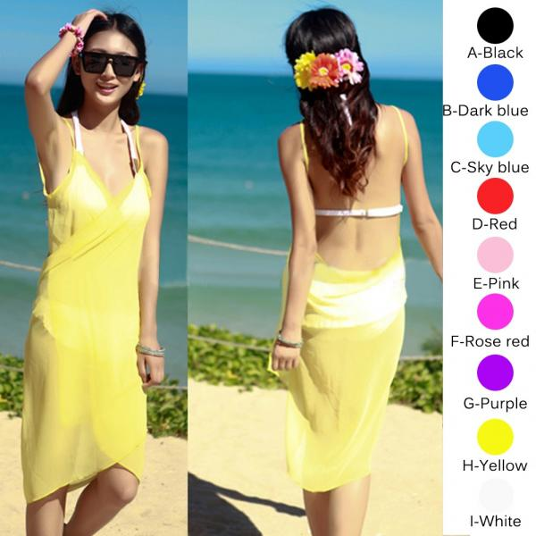 ba93d77d3f19e Women s Bikini Swimwear Cover Up SEXY Summer Beach Dress Sarong Sexy ...
