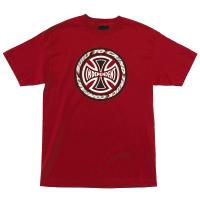 Independent Trucks TC BLAZE Skateboard Shirt CARDINAL RED MEDIUM