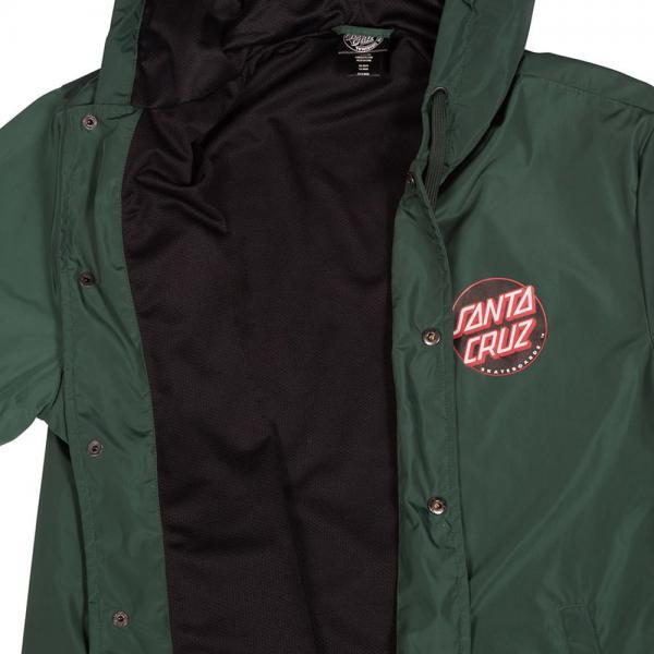 Santa Cruz JAPANESE DOT Hooded Windbreaker Jacket BLACK MEDIUM