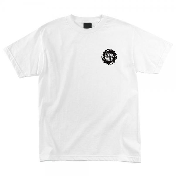 Santa Cruz OTHER SLIME BALLS Skateboard T Shirt WHITE MEDIUM