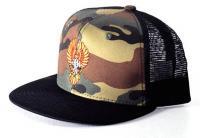 Dogtown Wes Humpston BIGFOOT EMBROIDERED LOGO Skateboard Trucker Hat CAMO//BLACK