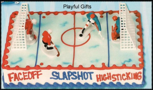 Ice Hockey Cake Decoration Kit Sports Teams Ice Skate