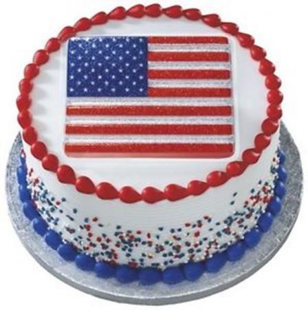 1 Patriotic USA Glitter FLAG Cake Topper Red White Blue | eBay