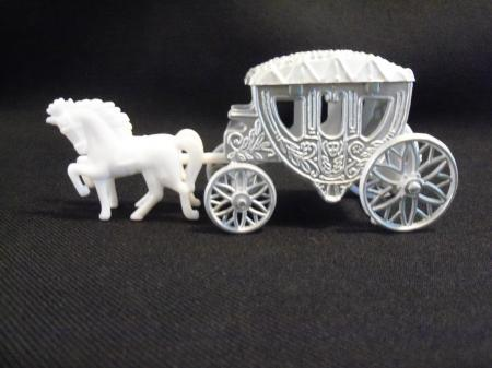 horse and carriage wedding cake topper cinderella style with fillable carriage cake topper 15313