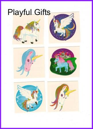24 Unicorn Tattoos Party Favors | 884