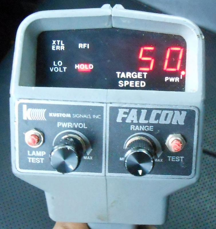 ... about Used Kustom Signals Falcon Handheld K-Band Police Radar Gun