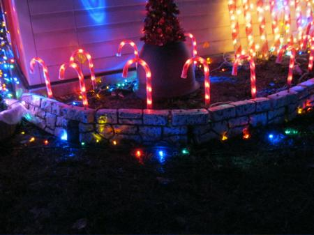 Big Lots Candy Cane Pathway Lights 8 Ct Outdoor Christmas Decoration ...