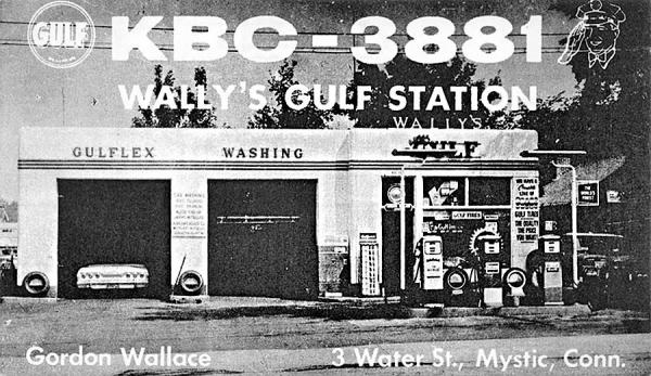 Gulf Gas Station Near Me >> Details About Mystic Ct Wally S Gulf Gas Station Pumps Old Car Postcard