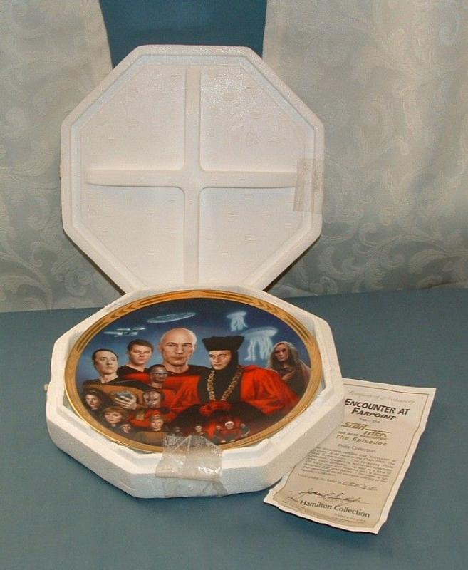Star Trek; the Next Generation, Encounter at Farpoint Collector Plate