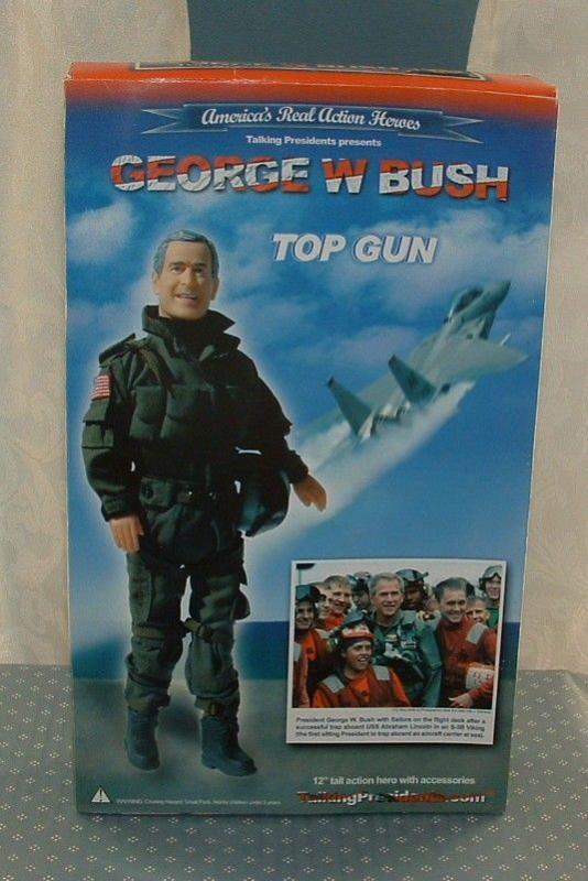 GEORGE W. BUSH, TOP GUN & PRESIDENT 12 ACTION FIGURE DOLLS 0