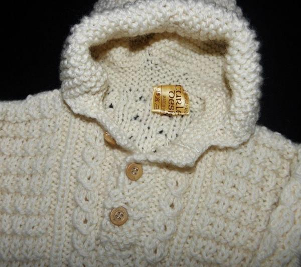 Knitted baby bunting - photo#11