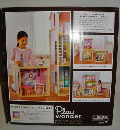 Details about new play wonder dance studio wooden doll house room