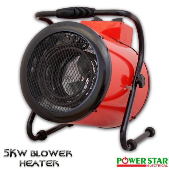 Industrial Blower Heaters : Commercial electric blower fan lpg gas workshop garage