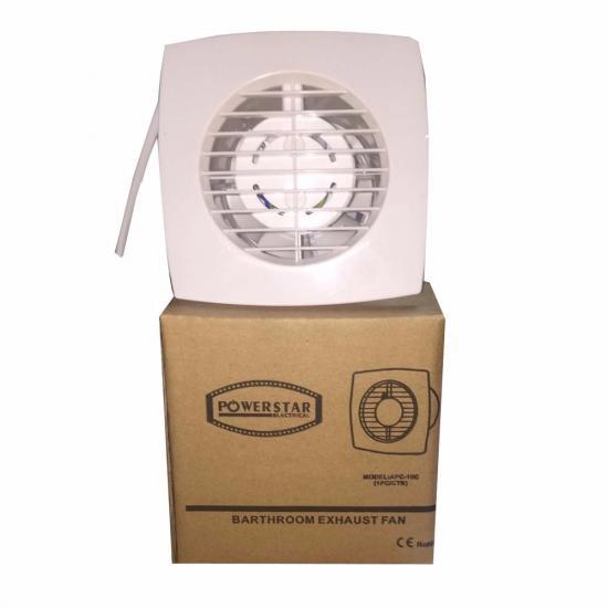 ventilation extracteur de plafond slimline 100mm 4 39 39 pvc cuisine mur salle bain. Black Bedroom Furniture Sets. Home Design Ideas