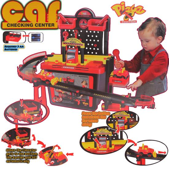 New Car Garage With Automatic Lift Boys Toy Pretend