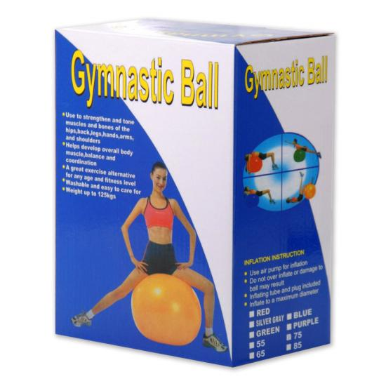 Gym ball pregnancy size