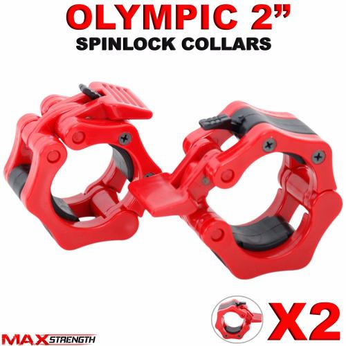 Olympic dumbbell barbell bar lock quot weight clamps