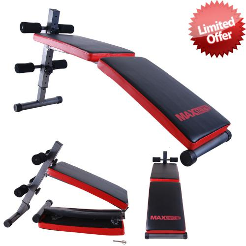 Ab Weight Crunch Sit Up Folding Bench Gym Fitness Home Exercise Workout Training Ebay