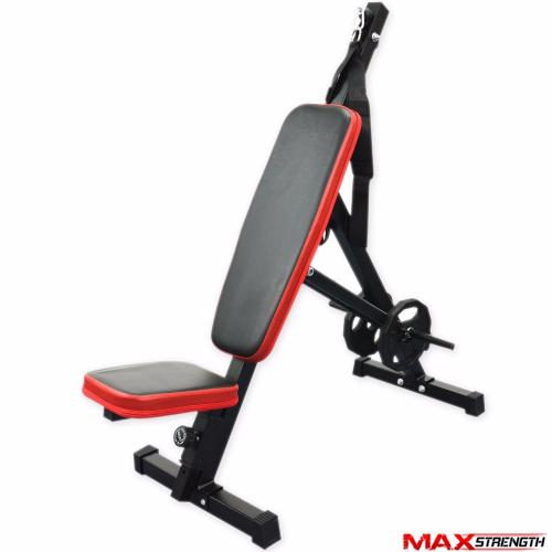 Hoist Decline Ab Bench: MAXSTRENGTH Adjustable Fly Incline Decline Bench Abs