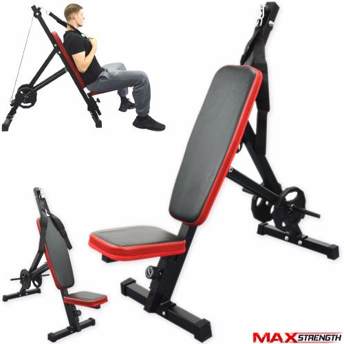 Maxstrength Adjustable Ab Crunch Board Weight Bench Home Gym Exercice Workout