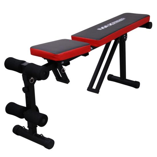 Foldable Flat Incline Fitness Exercise Ab Bench Home Gym Workout Dumbbell Weight Ebay