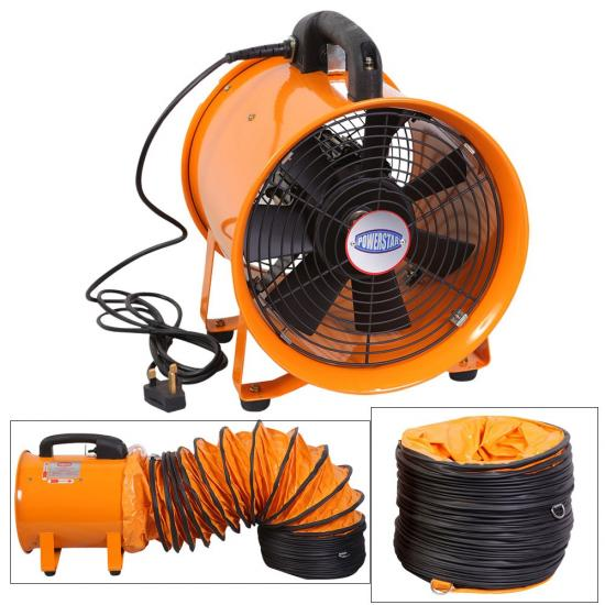 Commercial Fans Blowers : Extractor fan portable ventilator industrial air axial