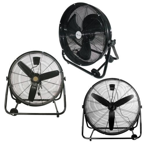 Industrial Cooling Fan : High velocity metal industrial commercial drum barrel