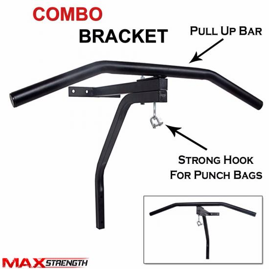 punch bag boxing training wall brackets combo chin pull up. Black Bedroom Furniture Sets. Home Design Ideas