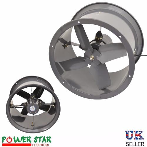 Extractor Fans Industrial : Quot cased fan axial extractor canopy kitchen restaurant