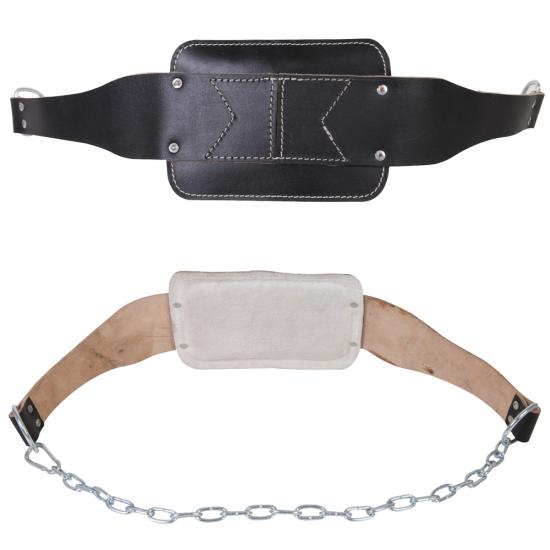 cow leather dipping dip belt with heavy duty chain