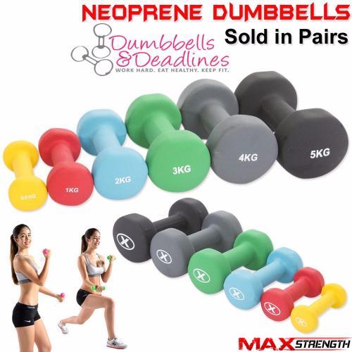 Red Neoprene Dumbbell Set: Neoprene Dumbbells Aerobic Weight Fitness Arm Exercise