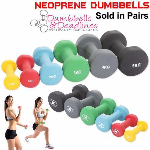 Red Neoprene Dumbbell Set: Neoprene Aerobic Dumbbells Hand Weights Home Gym Fitness