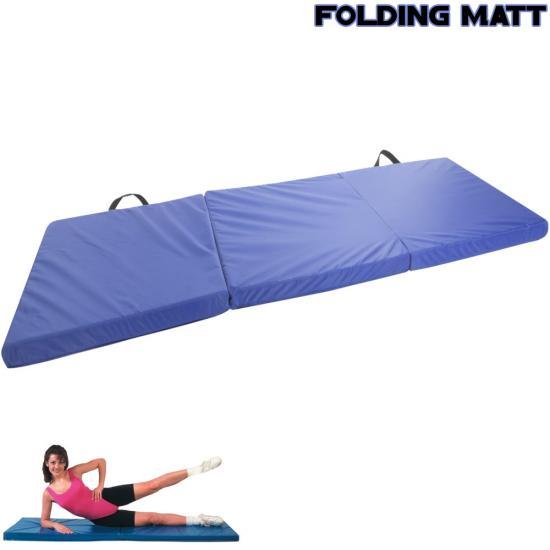"6ft X 2ft 1.5"" Thick Tri Folding Mat Foam Gym Fitness Yoga"
