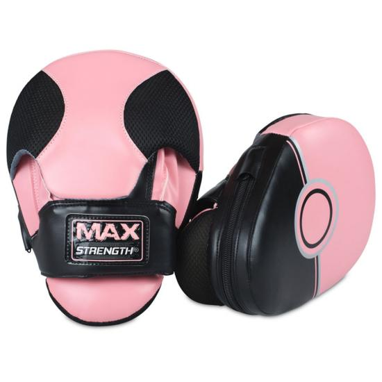 Workout Gloves Target: Pink Focus Pads And Bag Gloves Set MMA Boxing Training