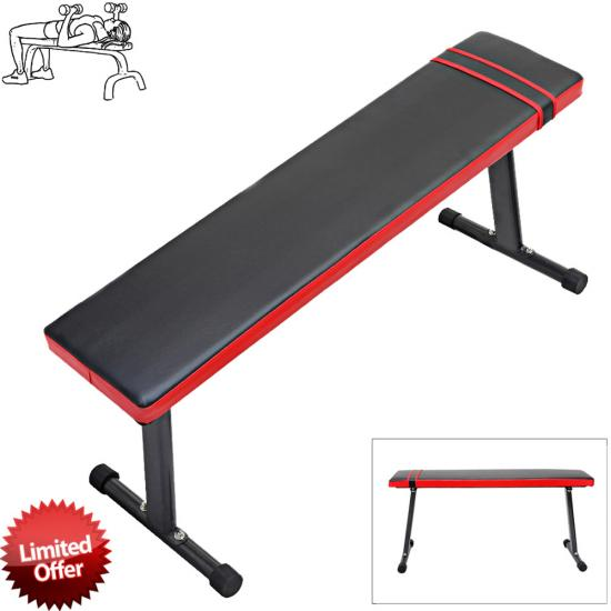 Weight Lifting Gym Fitness Training Workout Folding Abs Flat Fly Bench Set Ebay