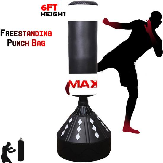 MAXSTRENGTH Boxing Free Standing Punch Bag Heavy Kick Fight Martial Arts Stand