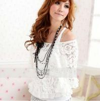 Ladies Lace Top Shirt Cover Up Blouse Vest 2in1 Summer 1016