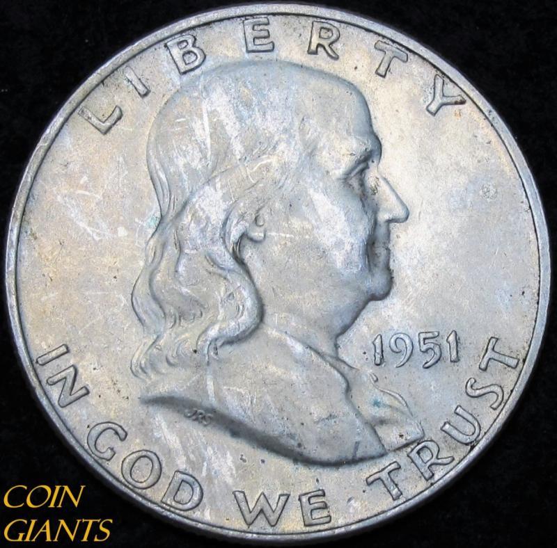 1951-D Franklin Silver Half Dollar GEM Uncirculated BU