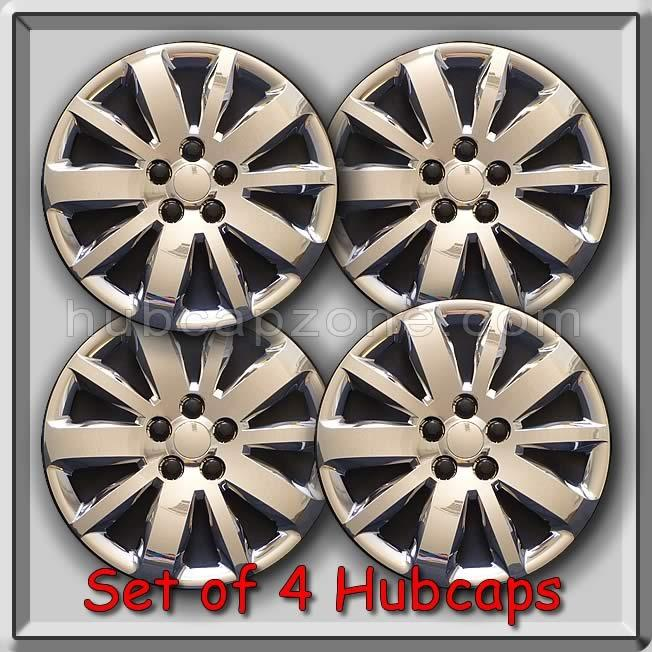 set of 4 16 chrome bolt on chevy chevrolet cruze hubcaps 2011 wheel covers. Black Bedroom Furniture Sets. Home Design Ideas