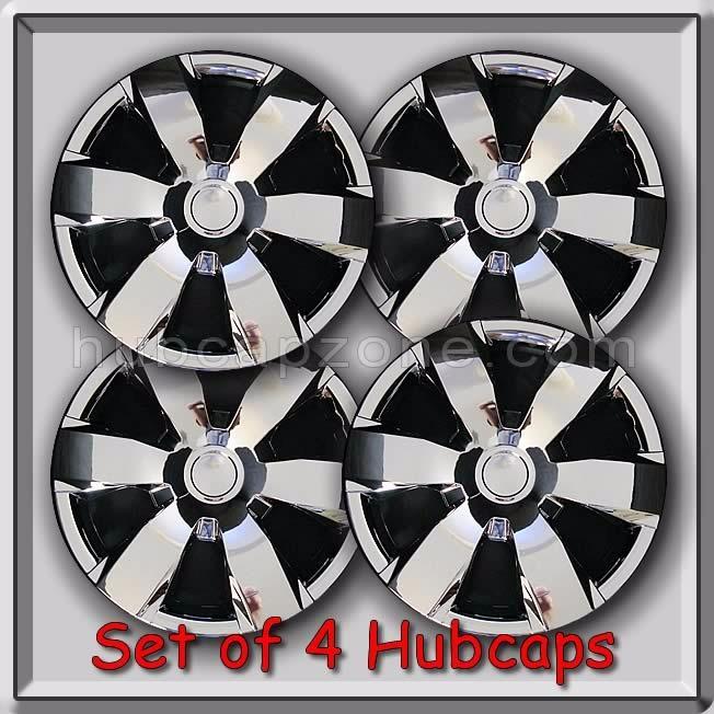 set of 4 16 chrome toyota camry hubcaps 2006 2010 replica camry wheel covers ebay. Black Bedroom Furniture Sets. Home Design Ideas