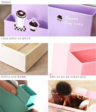 Organizers on Diy Paper Stationery Makeup Cosmetic Desk Organizer Storage Box 2