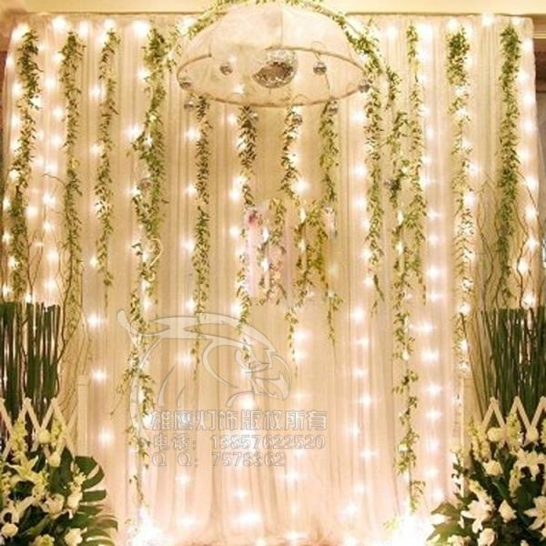 Fairy Lights Outdoor Weddings : Outdoor 10M 3M 1000 LED New Year String Fairy Wedding Curtain Lights