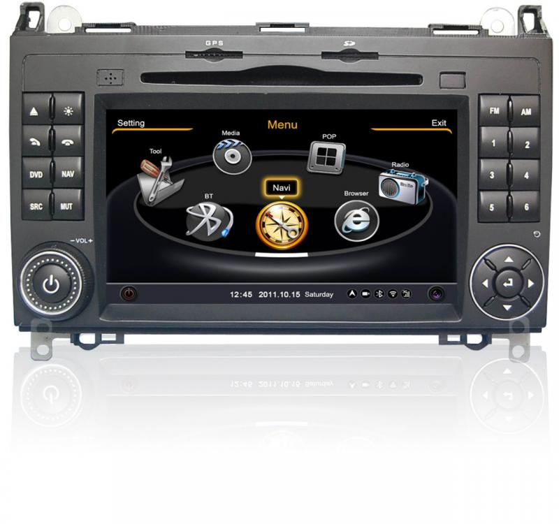 car stereo gps navigation radio for mercedes benz a b. Black Bedroom Furniture Sets. Home Design Ideas