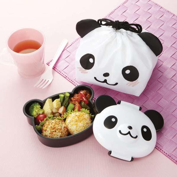 japanese kawaii bento lunch box panda bear design with carrying tote ebay. Black Bedroom Furniture Sets. Home Design Ideas