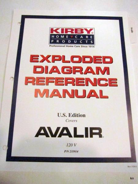 Kirby Avalir Exploded Diagram Reference Manual 235914 An Aid For Service Ebay