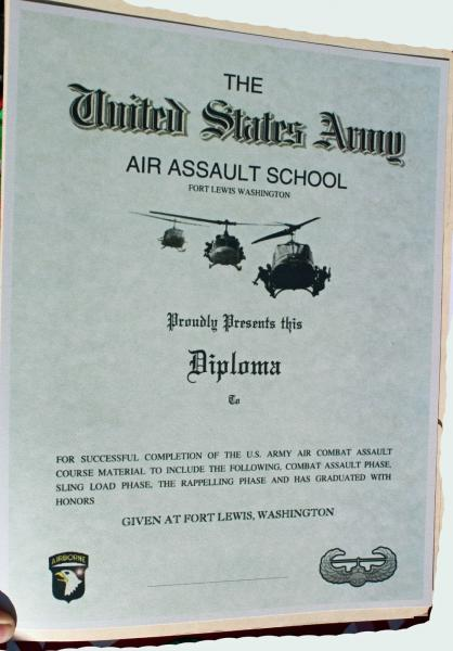 Army Air Assault School Ft Lewis Wa 13 Ebay