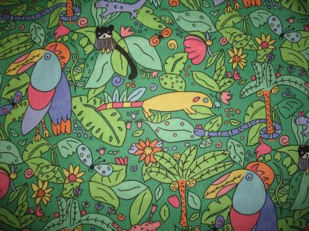 Bty vtg bright juvenile novelty jungle animal cotton decor for Bright childrens fabric