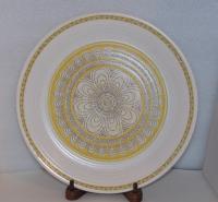 Franciscan Hacienda Gold Geometric Design White Saucer