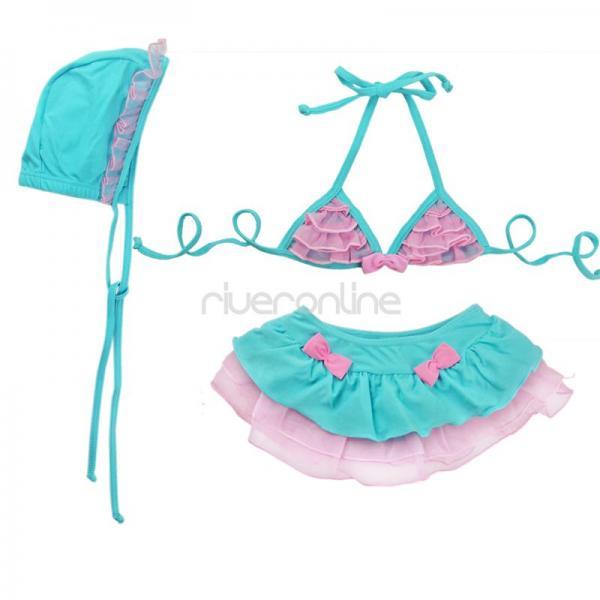 Baby Girls Bikini Swimsuit Swimwear Tutu Bathing Suit Swimming Costume 1 4 Years